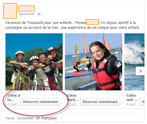 Apparence du bouton Call to Action sur le Carrousel