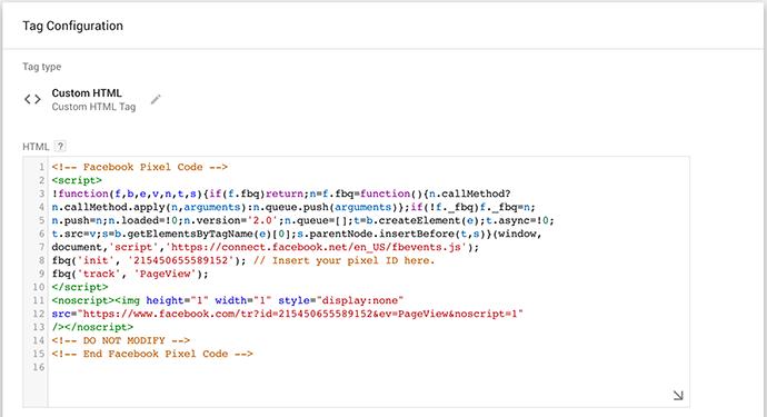 Installer le pixel Facebook avec Google Tag Manager - étape 3
