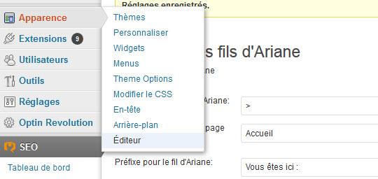 editeur dans wordpress