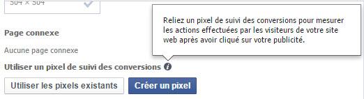 Attribuer un pixel de conversion à une publicité Facebook