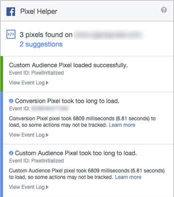 Facebook Pixel Helper