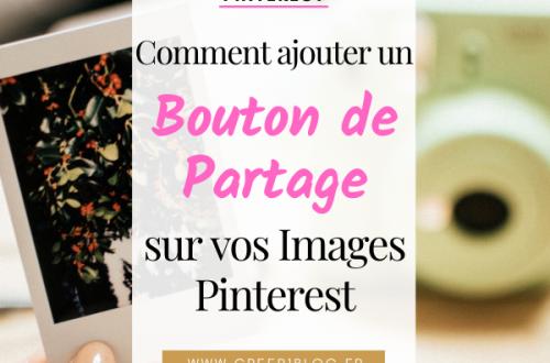 bouton de partage Pinterest