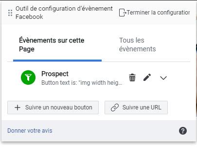 Ajouter des événements de pixel Facebook