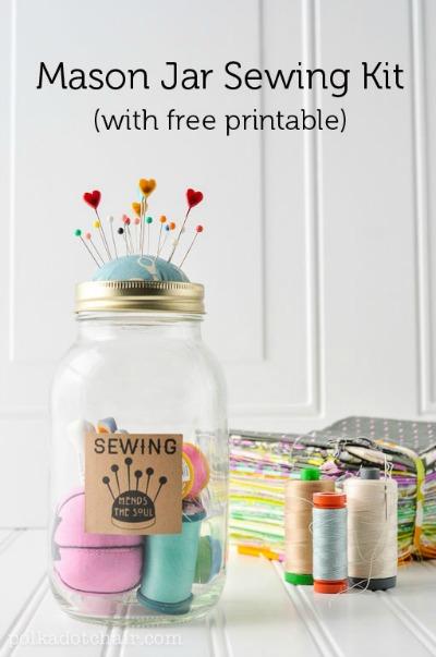 Idée cadeau fête des mères diy pot kit de couture