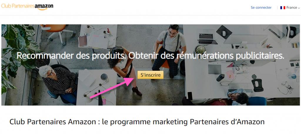 S'inscrire au programme d'affiliation Amazon