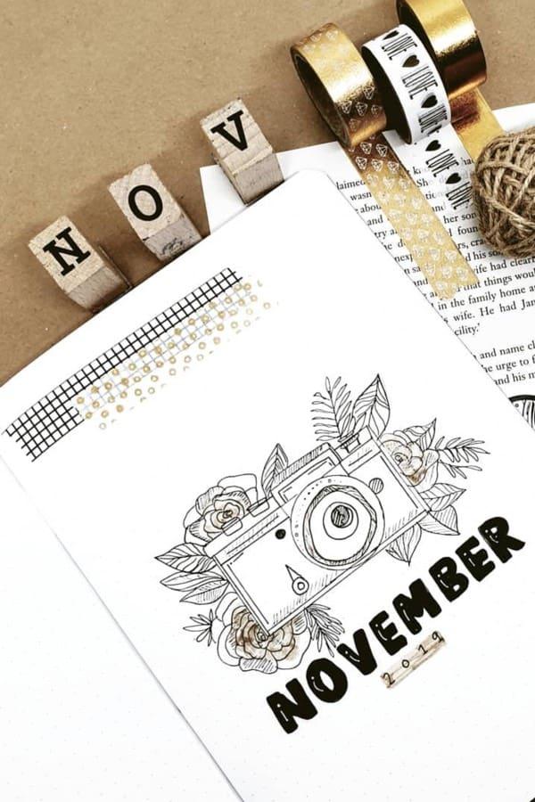 bullet journal novembre theme photo