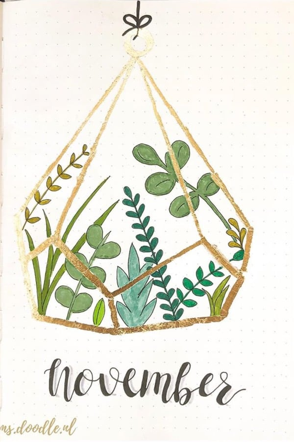 bullet journal novembre theme nature