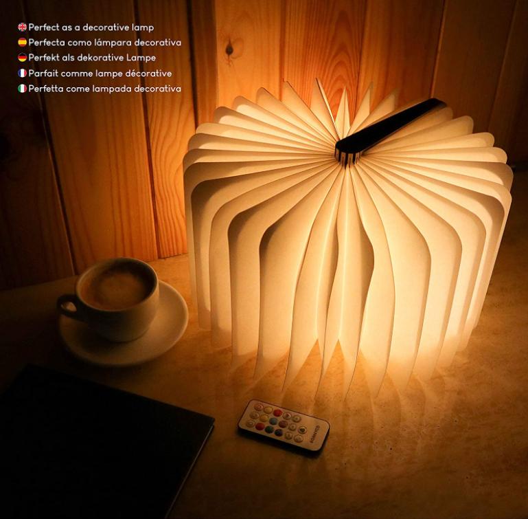 Cadeau Geek : lampe en forme de livre