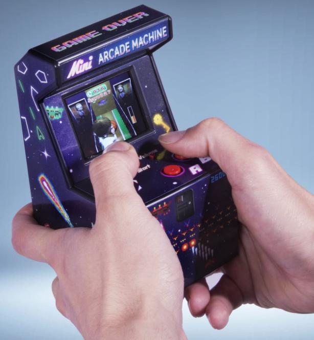 cadeau super geek : mini arcade avec jeux rétro