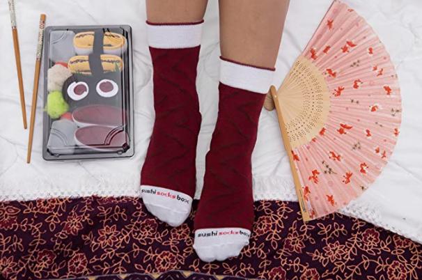 cadeau de noël pour homme : chaussettes sushis