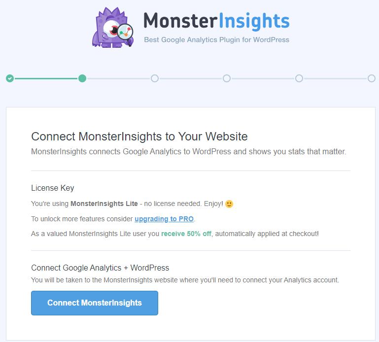 configurer plugin MonsterInsights