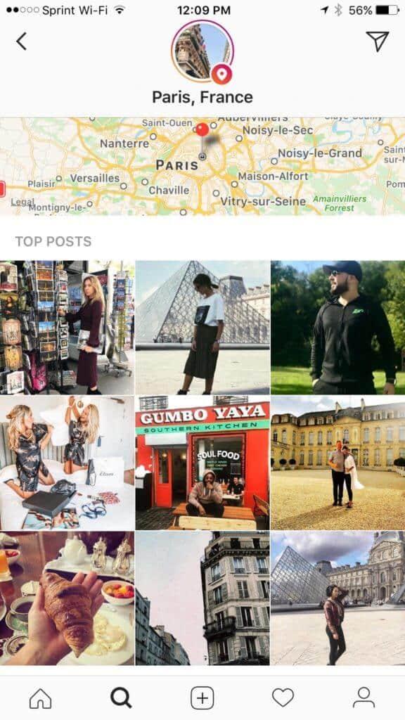 plus d'abonnés instagram grâce à la géolocalisaiton